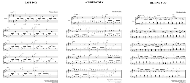 Partition Piano Sans Solfege